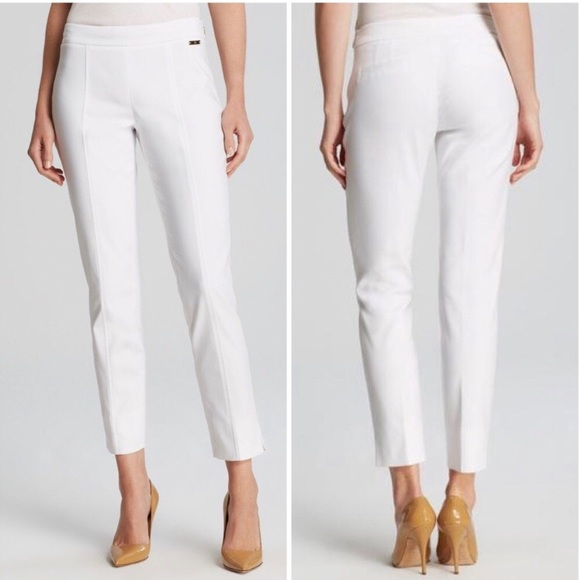 Tory Burch Pants - 🌾Tory Burch Callie cropped white pants size 10🌾